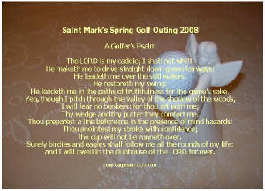 Golf Blessings, Psalms and Prayers